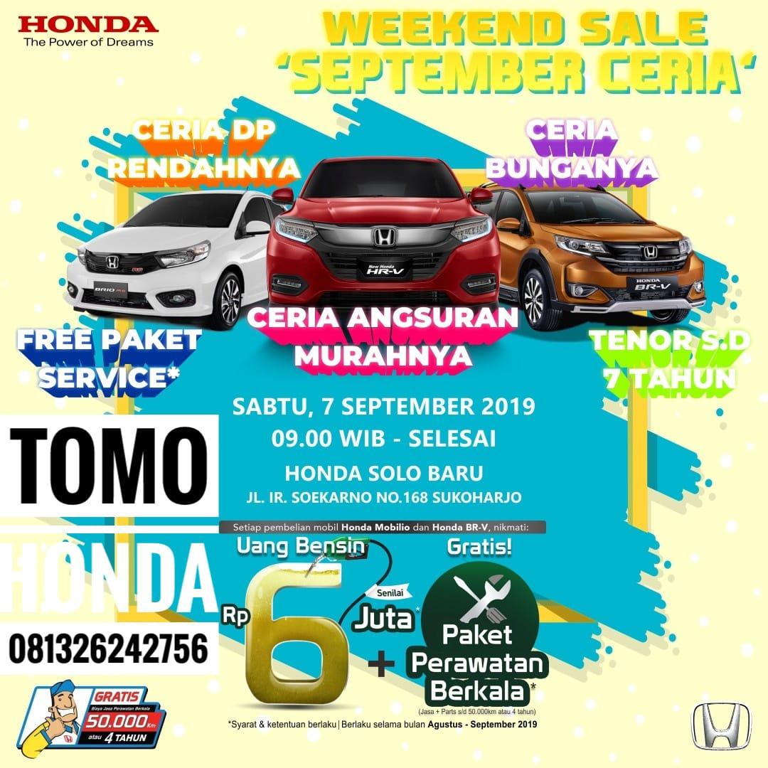 Showroom Event Weekend September Ceria Honda Solo