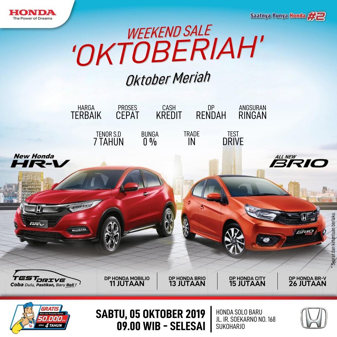 Hot Promo Oktober Meriah Dealer Honda Solo