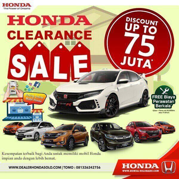 Spesial Promo Honda Clearance Sale Di Dealer Honda Solo